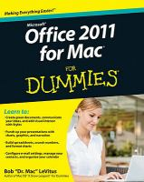 Microsoft Office 2011 for Mac for Dummies