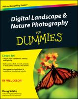 Digital Landscape & Nature Photography for Dummies