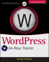 WordPress 24-hour Trainer,second Edition