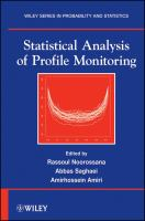 Statistical Analysis of Profile Monitoring