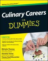 Culinary Careers for Dummies