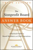 The Nonprofit Board Answer Book