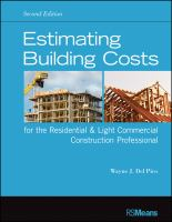 Estimating Building Costs for the Residential & Light Commercial Construction Professional