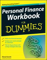 Personal Finance Workbook for Dummies
