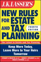 J.K. Lasser's New Rules for Estate and Tax Planning
