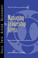 Managing Leadership Stress