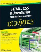 HTML, CSS & JavaScript Mobile Development for Dummies