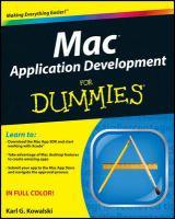MAC Application Development for Dummies