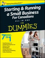 Starting & Running A Small Business for Canadians All-in-one for Dummies