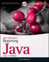 Ivor Horton's Beginning Java, Java 7 Edition