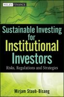 Sustainable Investing for Institutional Investors