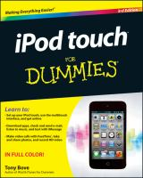 IPod Touch for Dummies, 3rd Edition