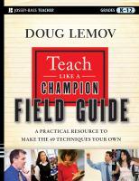 Teach Like A Champion Field Guide