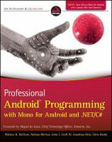 Professional Android Programming With Mono for Android and .NET/C♯