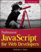Professional JavaScript for Web Developers, Third Edition