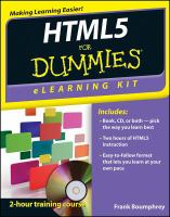 HTML5 for Dummies Elearning Kit