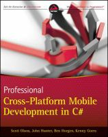 Professional Cross-platform Mobile Development in C♯