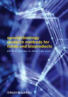 Nanotechnology Research Methods for Foods and Bioproducts