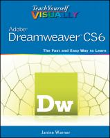 Teach Yourself Visually Dreamweaver CS6