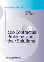 200 Contractual Problems and Their Solutions