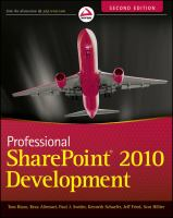 Professional SharePoint 2010 Development, Second Edition
