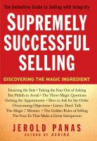 Supremely Successful Selling