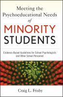 Meeting the Psychoeducational Needs of Minority Students