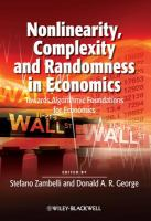 Nonlinearity, Complexity and Randomness in Economics