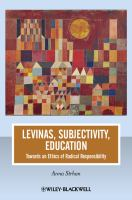Levinas, Subjectivity, Education