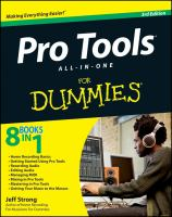 Pro Tools All-in-one for Dummies, 3rd Edition