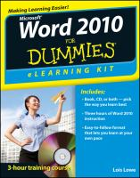 Microsoft Word 2010 for Dummies