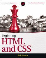 Beginning HTML & CSS