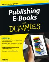 Publishing E-books For Dummies