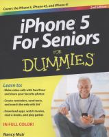 IPhone 5 for Seniors for Dummies
