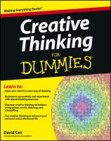 Creative Thinking for Dummies