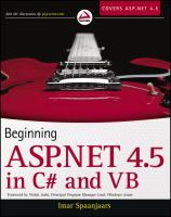 Beginning ASP.NET 4.5 in C♯ and VB