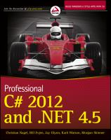 Professional C♯ 2012 and .NET 4.5