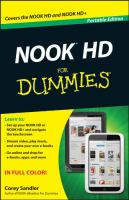 Nook HD for Dummies