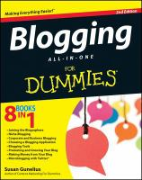 Blogging All-in-one for Dummies, 2nd Edition