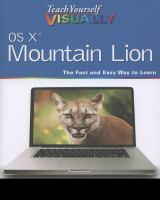 Teach Yourself Visually OS X Mountain Lion