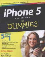 iPhone 5 all-in-one for dummies