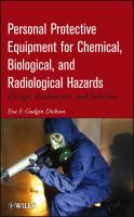 Personal Protective Equipment for Chemical, Biological, and Radiological Hazards