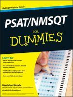 PSAT/NMSQT for Dummies