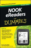 NOOK EReaders for Dummies