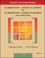 Elementary Linear Algebra (solution - 11th)