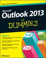 Microsoft Outlook 2013 for Dummies