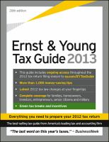 The Ernst & Young Tax Guide 2013