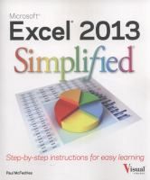 Excel 2013 Simplified