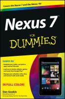 Nexus 7 for Dummies