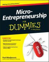 Micro-entrepreneurship for Dummies
